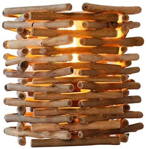 NA Gel Nail Iluminación Decorativa para Interiores Lámpara de Mesa Lámpara de Mesa de Madera Maciza Minimalista Lámpara de Mesa de Noche Decoración Protección