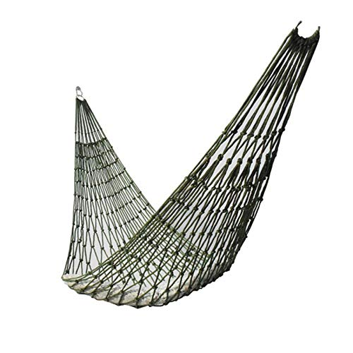 Upgraded Hanging Hammock Mesh Swing Seat, Portable Garden Outdoor Hammock, Fun Rope Pod Chair for Camping, Travel, Hiking and Backyard Relaxation, Easy to Hang and Comfortable, Fit Kids, Teens, Adults