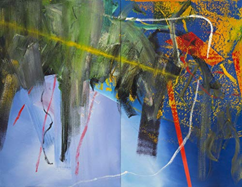 Gerhard Richter Clouds - Film Filmplakat - Beste Print Kunstdruck Qualität Wanddekoration Geschenk - A2 Poster (24/16.5 inch) - (59/42cm) - GLÄNZEND dickes Fotopapier
