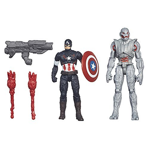 Marvel – Avengers: Age of Ultron – Captain America Vs. Ultimate Ultron – 2 Figurines 6 cm