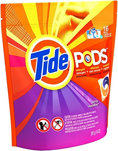 Tide 93120 Pods Laundry Detergent, 16 Count, Spring Meadow by Tide