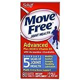Schiff - Déplacez la chondroïtine libre de glucosamine plus MSM et vitamine D3-80Comprimés enrobés