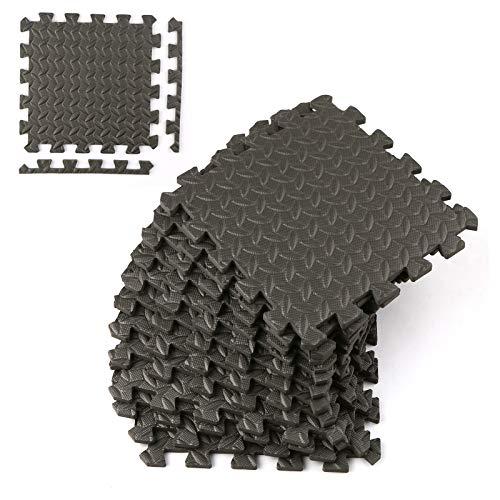 Roeam Esterilla Puzzle de Fitness,18 Esterilla Puzzle para Suelos de Gimnasio 30x30x1cm,Colchonetas para Máquinas de Deporte