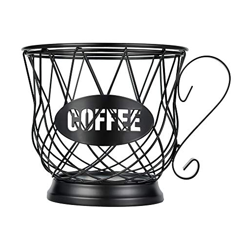 Coffee Pod Holder Large Capacity K Cup Holder Organizer for Counter Coffee Pod Storage for 40 K Cups Black