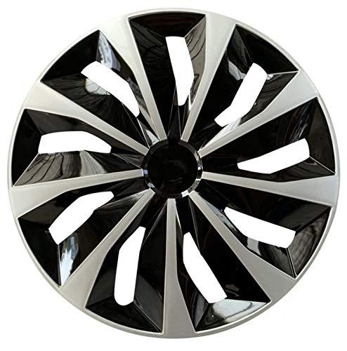 CHICAI Rueda de Ajuste Compatible con Cubiertas 13/14/15 Pulgadas Ruedas, Coches Modificación de Piezas (Negro de Plata 1PCS) (Size : 13INCH)