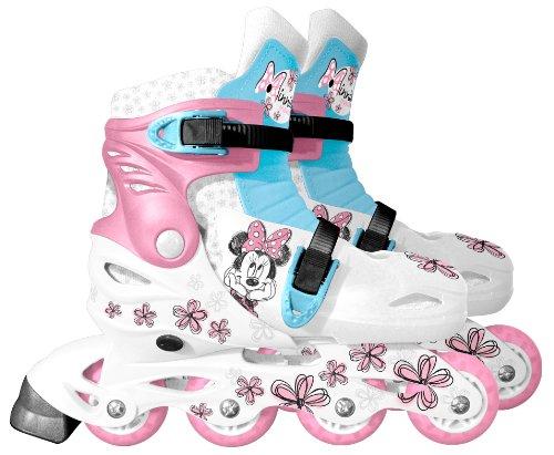 Disney Kinder Inlineskates Minnie Flower Verstellbarer IN-LINE 34-37, Weiss