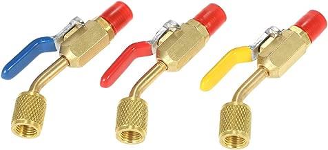VISLONE Air Conditioning Refrigerant 3PCS Color Coded R410A R134A Shut Valves for AC HVAC Refrigeration Charging Hoses