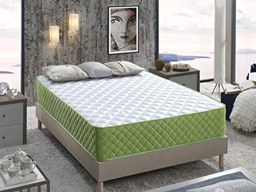 Colchón FENIX Viscoelástico Carbono 90x190x15 cm.: Eco Friendly, Confort de Hotel, Acogida suave con firmeza Media, Anti Stress.