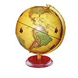 SuRose Globo, Globo terráqueo para el hogar Globo terráqueo Iluminado con Base de Madera Mapa Mundial detallado, Regalo Educativo, decoración de Mesa de Noche para niños y Adultos