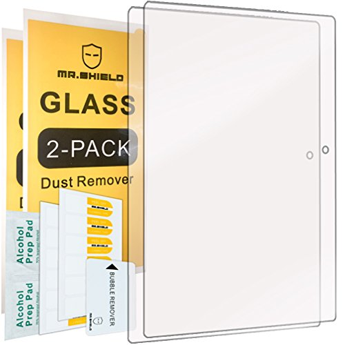 [2-PACK]-Mr.Shield Designed For Lenovo Tab 2 A10-70 10.1 Inch [Tempered Glass] Screen Protector [0.3mm Ultra Thin 9H Hardness 2.5D Round Edge] with Lifetime Replacement