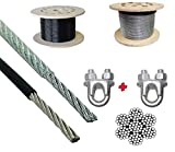 Universally applicable to all machines smooth pu coated unbreakable rust prrof heavy dutywire Smooth and long-lasting white coated wire 6MM Silver or black both available with bestest quality ever 6MM Silver or black both available with bestest quali...