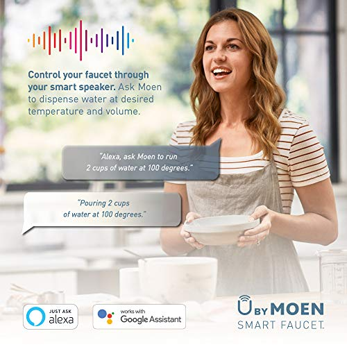 Moen S75005EVC Nio U by Moen Smart Pulldown Kitchen Faucet with Voice Control and MotionSense, Chrome
