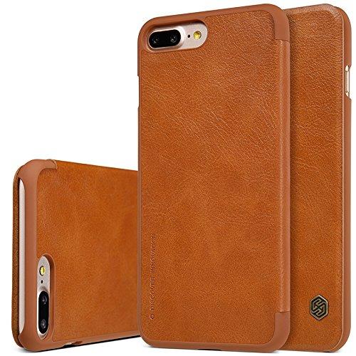 Nolkin Qin - Funda de piel sintética para iPhone 7 Plus, color marrón