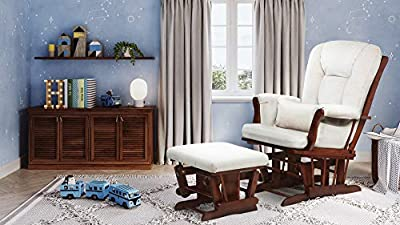 AFG Baby Furniture Alice Glider Chair & Ottoman with Pillow, Espresso