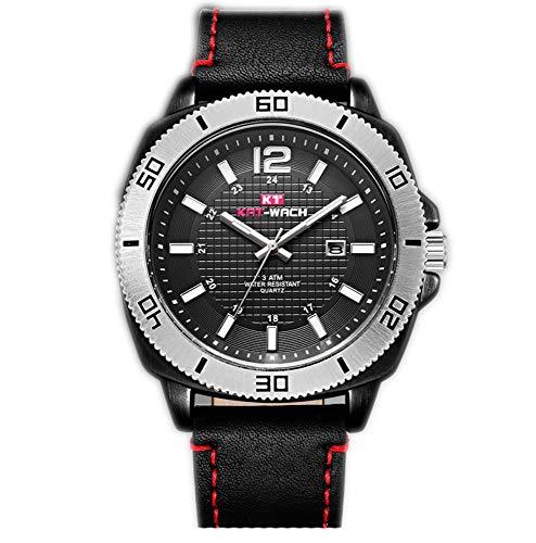 Smartwatches,Gürtel wasserdichte Quarzuhr Business Freizeit Nightlight Watch Einfache Ultradünne Uhr Gules