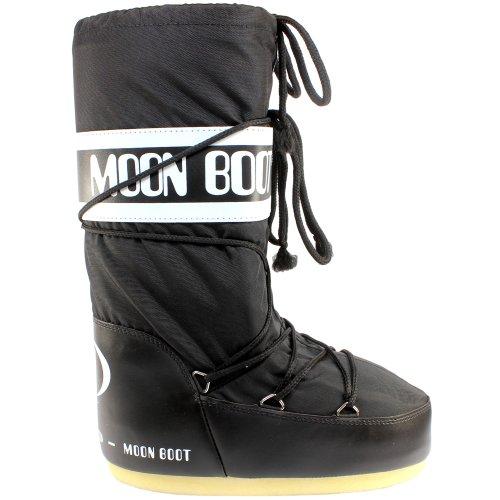 Moon Boot Womens Tecnica Original Winter Snow Waterproof Nylon Snow Boots - Black 7-8.5