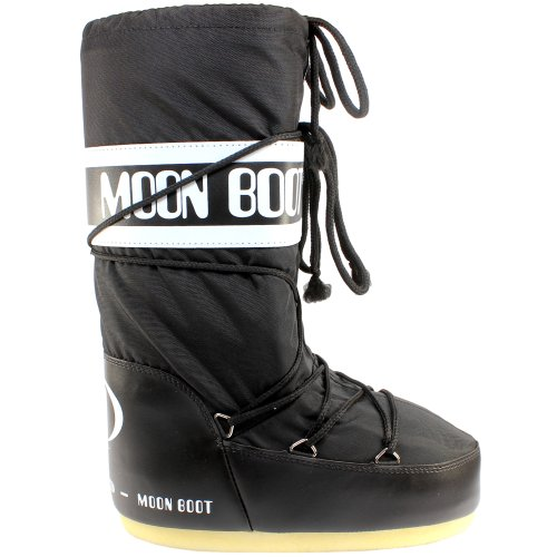 Moon Boot Womens Tecnica Original Winter Snow Waterproof Nylon Snow Boots - Black 7-8.5