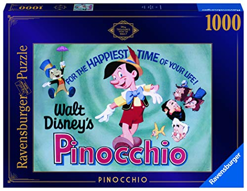 Ravensburger Disney Treasures from The Vault Pinocchio 1000 Piece Jigsaw Puzzle for Adults – Every Piece is Unique, Softclick Technology Means Pieces Fit Together Perfectly - Amazon Exclusive