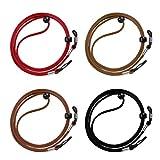 Cordón de Gafas 4 Piezas Universal Cuerda de Gafas Ajustable Antideslizante para Los Deportes y Actividades al Aire Libre