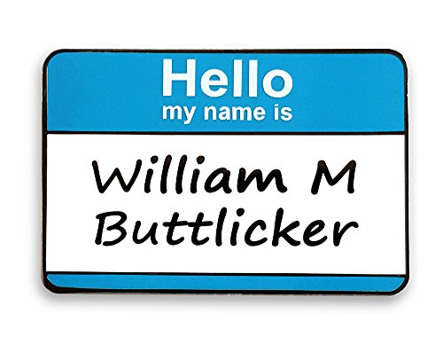 Pinsanity The Office Bill Buttlicker Name Tag Enamel Lapel Pin