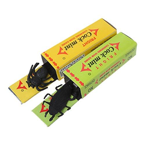 SimpleLife Trick Kaugummi mit Kakerlake Spinne-Funny Childrens Trick Süßigkeiten böse Witze Party Bag Füllstoffe-2 Stück