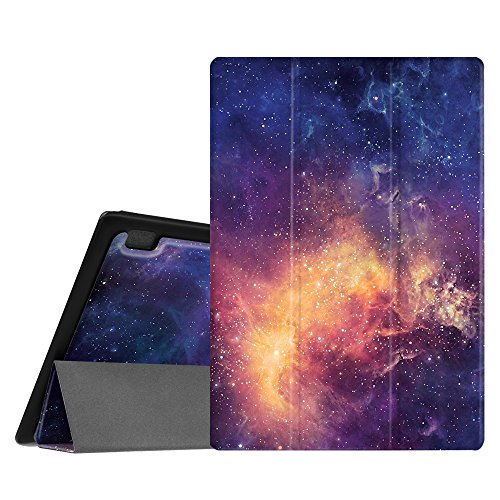 FINTIE SlimShell Case for Lenovo Tab 10 TB-X103F / TAB2 A10-70F / Tab 3 10 Plus/Tab 3 10 10.1-Inch Tablet - Super Thin Light Weight Cover with Auto Sleep/Wake Feature, Galaxy