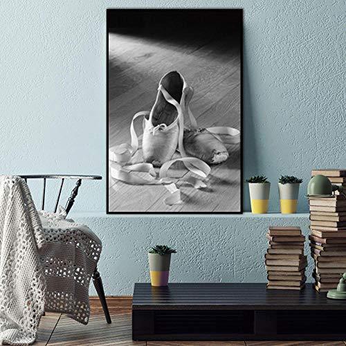 Non-branded Frau Tanzschuhe Nordic Abstract Wandbilder für Wohnzimmer Kunst Dekoration Bilder Leinwand Malerei Plakatkunst 40x60cm / Ungerahmt