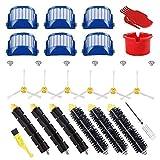 LBWNB Cepillo de cerdas y batidor flexible y armado-3 cepillo lateral y filtros para 600 Series 614 620 630 650 660 665 690 accesorio para aspiradora