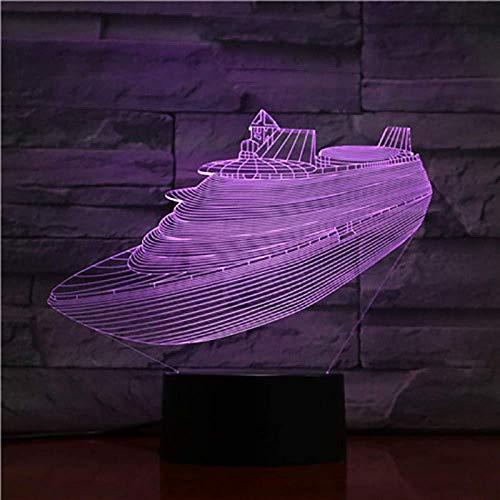 3D Nachtlicht S3D Lampe Kreuzfahrtschiff Schnelle Lieferung Bester Preis für Kinder Helle Basis für Wohnzimmerdekoration LED-Lampe Hologramm-Bluetooth-Basis