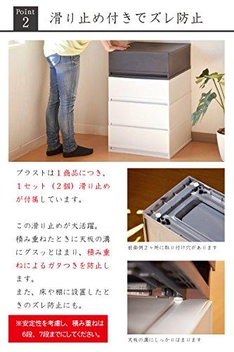 リブウェル(Livewell) 日本製 収納チェスト 引き出し 17cm幅 3段 PLUST プラストベーシック FR1703 (ホワイト)
