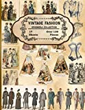 Vintage Fashion Ephemera Collection: 17 Sheets and Over 130 Vintage Fashion Ephemera Pieces for DIY Cards, Scrapbooks, Decorations, Victorian Fashion ... Envelop Template | Gifts for Fashion Lovers