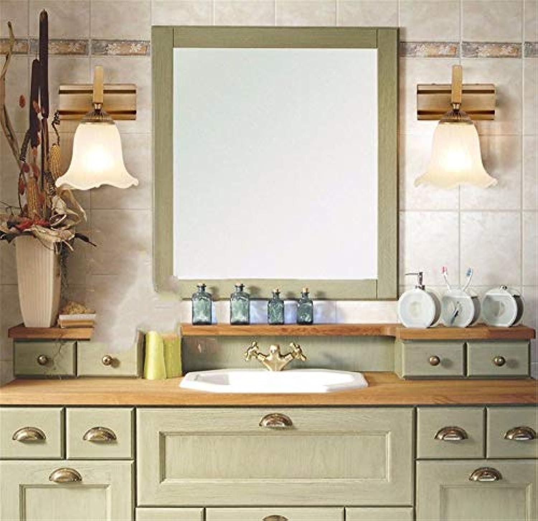 YHEGV Led Badezimmerschrank Badezimmerspiegel Lampe Lampe Kommode Lampe Einfache Moderne Retro Make-Up, Bronze Zwei Enden (28 cm)