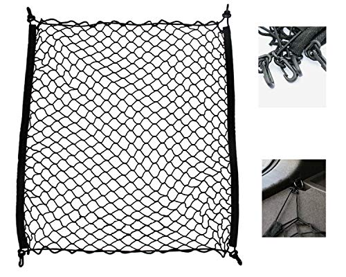 "Car Net, Cargo net Flexible Nylon Rear Cargo Car Trunk Storage Net Luggage Carrier net Mesh Storage car Organizer Pet Barrier Net Guard Barrier Protector for Car 27.5"" x 27.5"""
