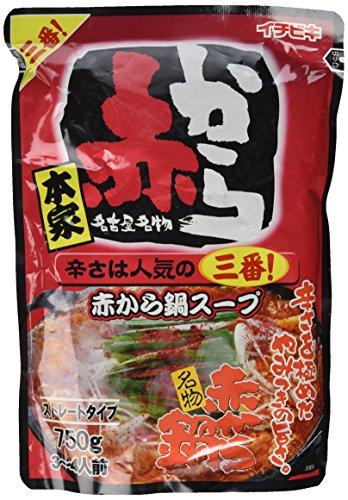 イチビキ ストレート赤から鍋スープ3番 750g×2個