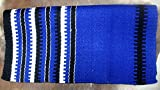 CHALLENGER 34x36 Horse Wool Western Show Trail Saddle Blanket Rodeo Pad Rug Blue 36149