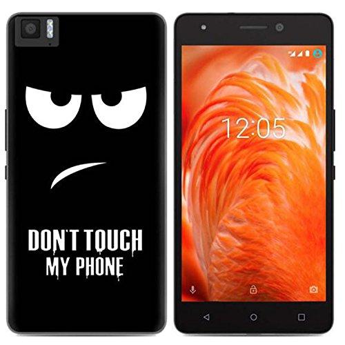 Yrlehoo Für BQ Aquaris M 2017, Premium softe Silikon Schutzhülle für BQ Aquaris M 2017 Tasche Hülle Cover Hülle Etui Schutz Protect, Do not Touch My Phone