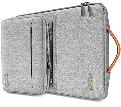 iNeseon 360° Schutz Laptoptashce Hülle für 13 Zoll MacBook Air/Pro(M1), 13,3 Zoll ASUS Dell HP Huawei CHUWI Ultrabook Notebook Tasche Schutzhülle mit Abnehmbarer Zubehörtasche, Grau
