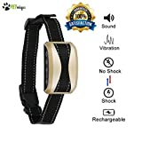 PETnologics Bark Collar for Dogs [2018 New Tech] No Bark Collar, Shock & Vibration & Sound with 7 Sensitivity Adjustable Control Levels Dog Training Collar for Small, Medium, Large Dogs