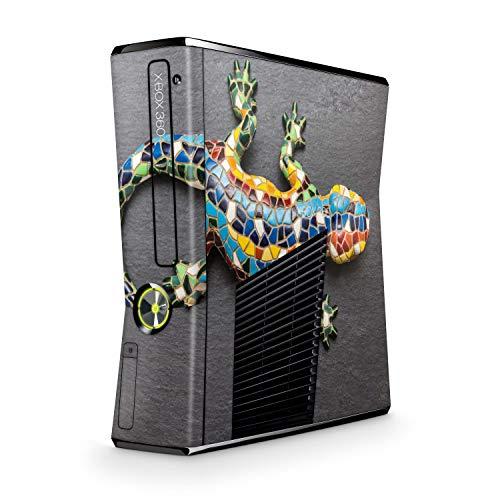 Skins4u Design modding Aufkleber Vinyl Skin Klebe Folie Skins Schutzfolie kompatibel mit Xbox 360 Slim Mosaik Gecko