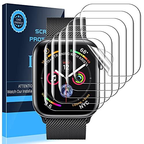 LK 6 stück Schutzfolie Kompatibel mit Apple Watch Series 3 Series 2 Series 1 42mm ,hohe Qualität Bildschirmschutzfolie Bubble volle Abdeckung HD Klar Folie