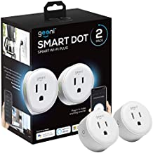 Geeni DOT Smart Wi-Fi Outlet Plug, White, (2 Pack) – No Hub Required – Works with Amazon Alexa and Google Assistant, Requires 2.4 GHz Wi-Fi