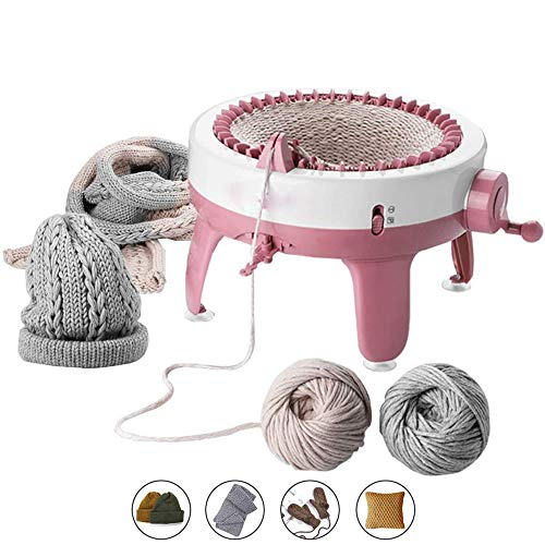 Knitting Machine, 48 Needles Knitting Loom Machine with Row Counter, Smart Weaving Loom Knitting Round Loom,Knitting Board Rotating Tools Kids Educational Learning Toy Knitting Tools