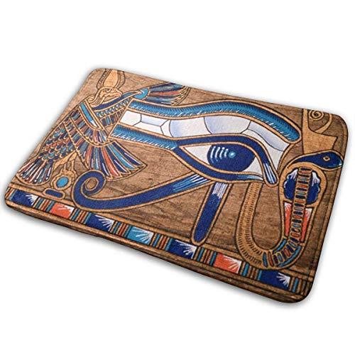 Hgdfhfgd - Felpudo para exterior, interior y exterior, antideslizante, diseño de papiro egipcio que representa el ojo de Horus, 40 x 60 cm