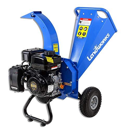 Find Cheap Landworks Mini Wood Chipper Shredder Mulcher Super Heavy Duty 7 HP 212cc Gas Powered 3 I...