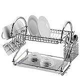 Keraiz Égouttoir à vaisselle, couverts et tasses Plaqué chrome Durable |...