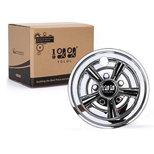 """10L0L Golf Cart SS Wheel Covers Hub Caps for Yamaha/Club CAR/EZ-GO Par Car 8"""" (Set of 4)"""