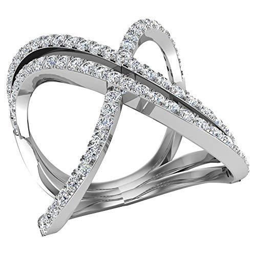 Glitz Design Mujer Niños Hombre Unisex oro 14 quilates (585) oro blanco 14 quilates (585) round-brilliant-shape G-H Diamond