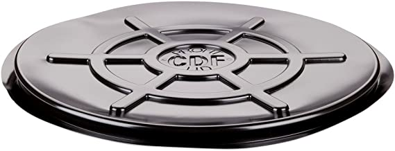 New Pig Black Snap-On Drum Cover, For 55 Gal Steel Tight-Head Drums, Snap-On Fit, 23