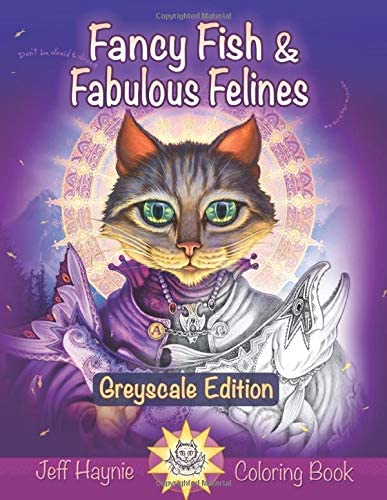 Fancy Fish and Fabulous Felines Grayscale Edition A fishy feline coloring book product image