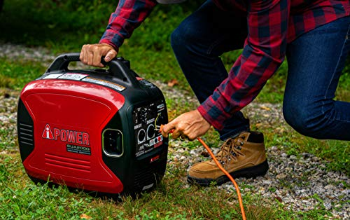 A-iPower SUA2000iV 2000 Watt Portable Inverter Generator Gas Powered, Small with Super Quiet Operation for Home, RV, or Emergency